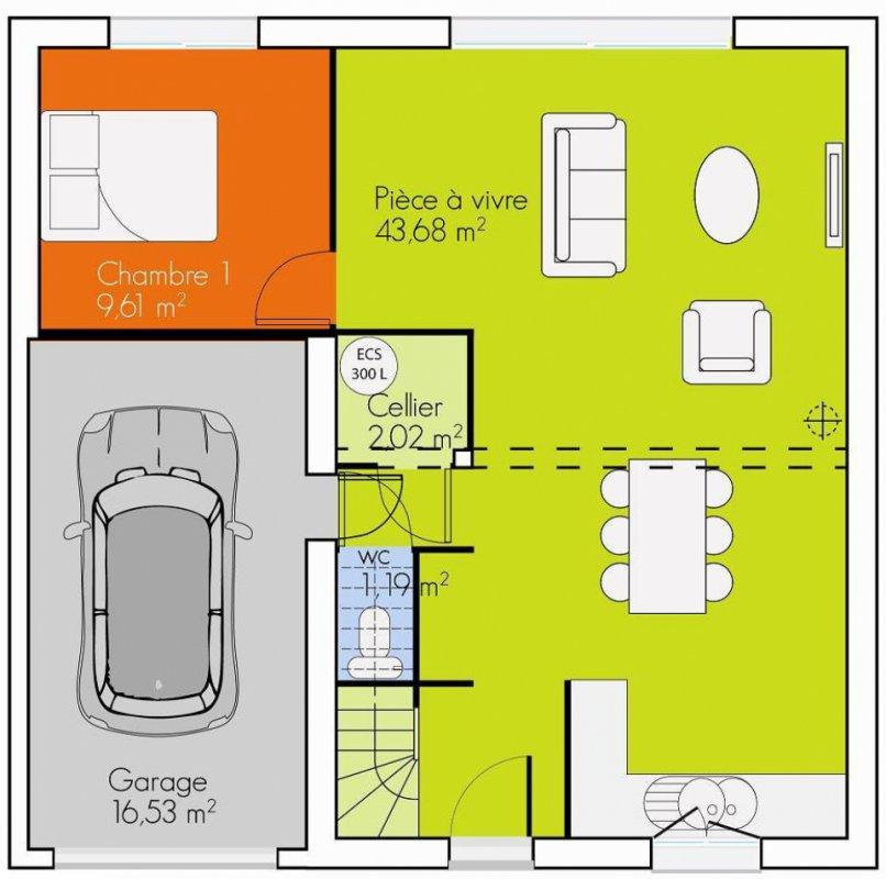 plan de maison r+4
