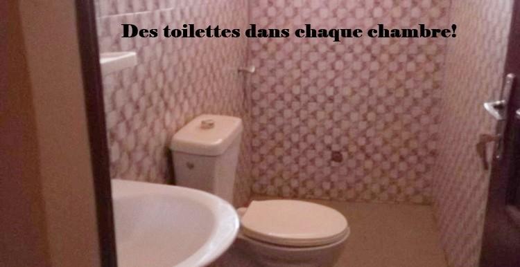 Toilettes dans les chambres